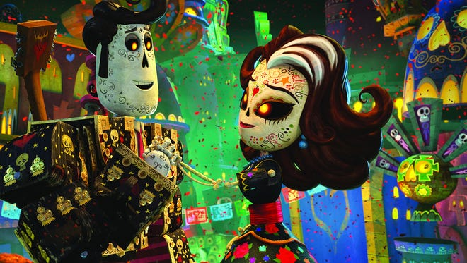 "Manolo (Diego Luna) and his mother, Carmen,  (Ana de la Reguera) visit The Land of the Remembered in ""The Book of Life."""