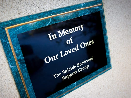 A plaque at Mesilla Valley Hospice has been placed by the Southern New Mexico Suicide Prevention and Survivor Support Coalition.