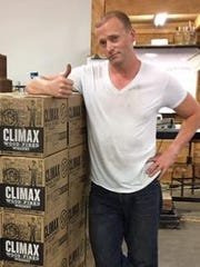 Chad Slagle gives his approval of a shipment of Climax Wood-Fired Whiskey.