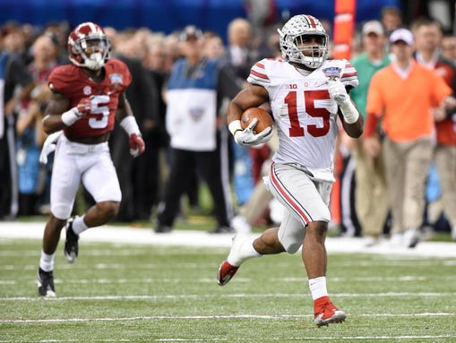 Speedy running back Ezekiel Elliott  had 230 yards