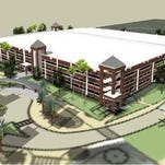 A rendering of Garage C once construction is completed later this year. `