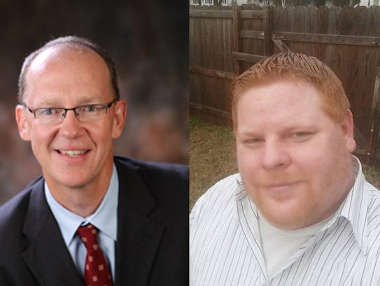 Craig Hosmer, left, and Curtis Montgomery, right, are
