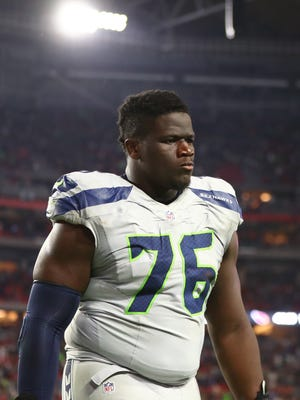 Germain Ifedi started at right guard as a rookie for the Seahawks last season, but might move to right tackle, the position he played at Texas A&M.