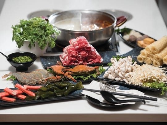 Mala and pork with various selections of premium sliced beef, shrimp and more