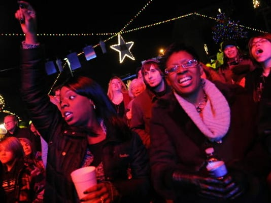 Continental Square in York was packed with people celebrating New Year's Eve in 2011 with a concert by Groove Jones. The city says it won't be having the event this year because there wasn't enough money raised to sponsor the $35,000 event. (DAILY RECORD/SUNDAY NEWS - FILE PHOTO)