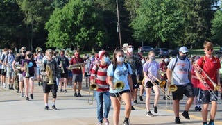 The Stow-Munroe Falls High School Bulldog Marching Band began practices for the new school year during the week of Aug. 3. Band director Greg Newman said there are 253 band members, with 230 expected to take the field.