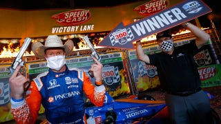 Scott Dixon in Victory Lane at Texas Motor Speedway (Indy Car photo)