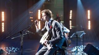 "Fin Argus plays terminally ill high school musician, Zach Sobiech in ""Clouds."""