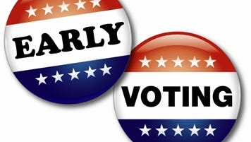 Early voting for April 9 elections begins Saturday. it will take place at the parish registrars of voters' offices from 8:30 a.m. to 6 p.m. Saturday through Saturday, March 26 through April 2, excluding Sunday, March 27.