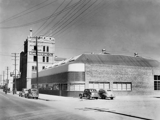 The Reno Brewing Company, pictured here in 1940, opened in 1903 on Fourth Street in Reno. The bottling plant in the foreground was added later in 1940.
