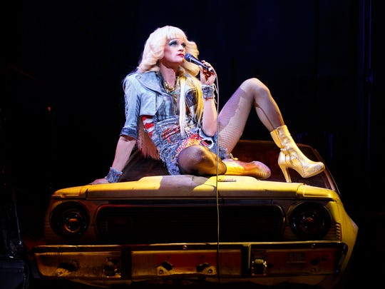 """This image released by Boneau/Bryan-Brown shows Neil Patrick Harris in a scene from """"Hedwig and the Angry Inch,"""" at the Belasco Theatre in New York."""