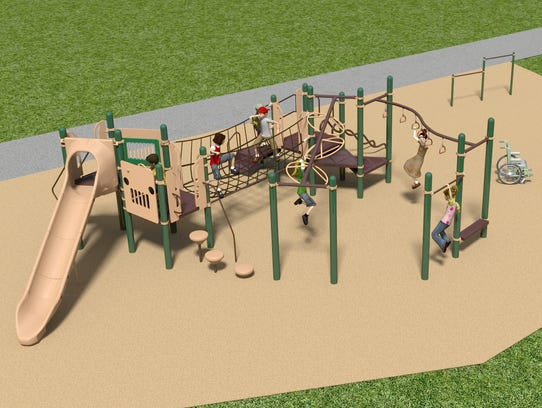 A rendering of the Carl Traeger inclusive playground,