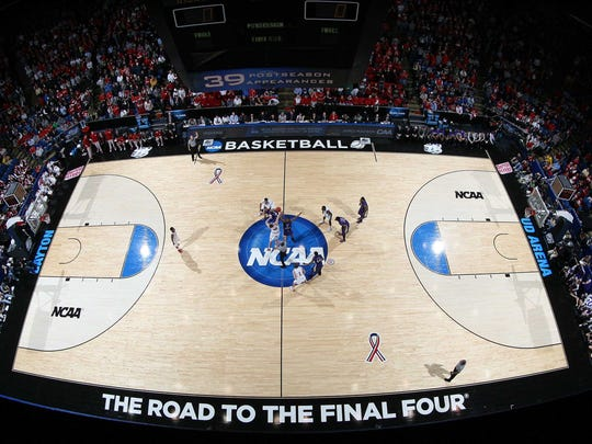 The NCAA Division I men's basketball tournament opens tonight with play-in games in Dayton, Ohio. Fairleigh Dickinson and Florida Gulf-Coast will tip off at 6:40 p.m., before Wichita State and Vanderbilt play at 9:10.