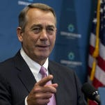 Outgoing House Speaker John Boehner of Ohio acknowledges a reporter during a new conference on Capitol Hill in Washington, Tuesday, Sept. 29, 2015. House Majority Leader Kevin McCarthy of Calif., is assuring Republicans he can bring them together, even as emboldened conservatives maneuver to yank their party to the right in the wake of the leader of the U.S. House of Representatives Speaker John Boehner's sudden resignation. (AP Photo/Carolyn Kaster)
