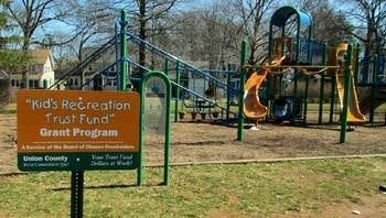 Improvements to Berzinec Park at the corner of Central Avenue and St. Georges Avenue in Rahway were made possible, in part, by the Kids Recreation Trust Fund matching grant program.
