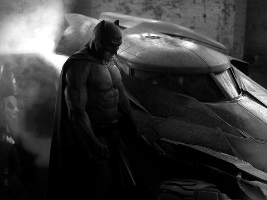 Ben Affleck as Batman in photo tweeted by director Zack Snyder.