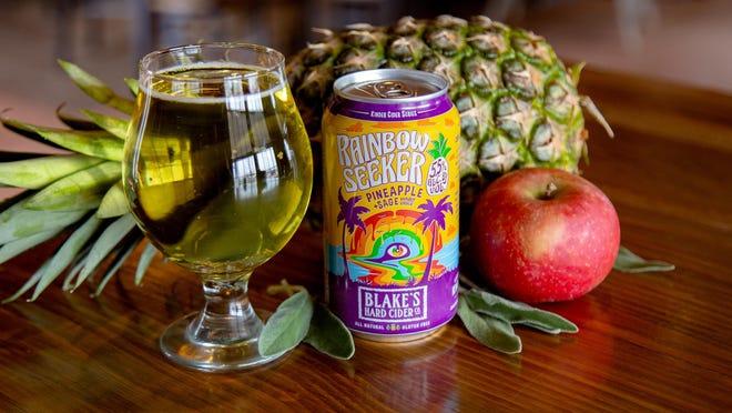 Blake's Hard Cider's Rainbow Seeker will return next month.