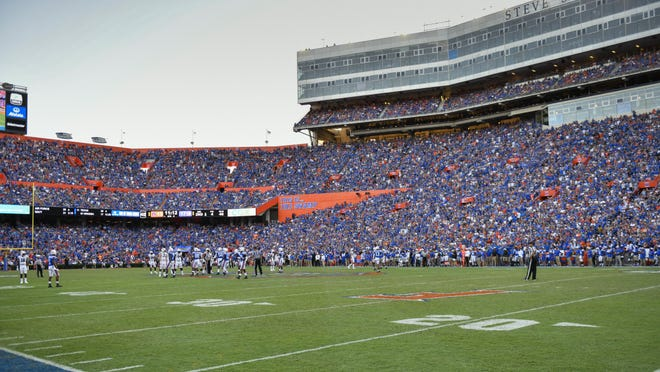 A look at last year's Auburn vs. Florida game at Steve Spurrier-Florida Field at Ben Hill Griffin Stadium.