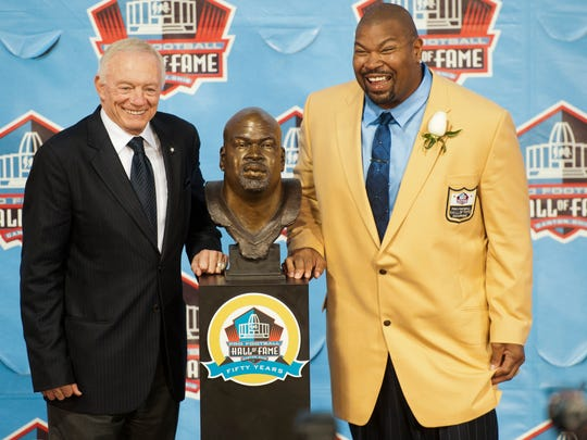 Former Dallas Cowboys offensive lineman Larry Allen was inducted into the Pro Football Hall of Fame in 2013. Allen is arguably the greatest offensive lineman in Cowboys' history.
