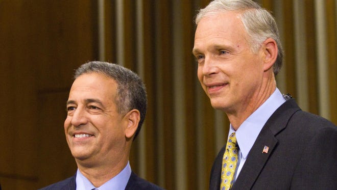 Russ Feingold, left, and Ron Johnson