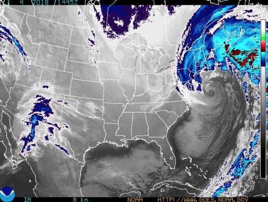 A bomb cyclone that dumped snow on the Lowcountry Wednesday
