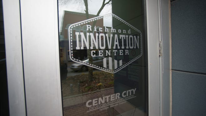 The front entrance of the Richmond Innovation Center in the 800 block of East Main Street is seen Wednesday, Nov. 30, 2016.