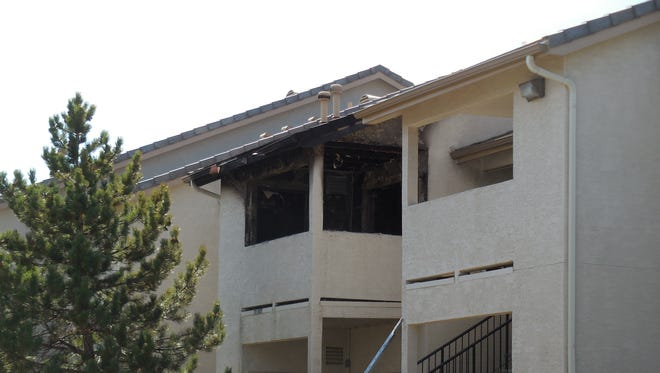 An apartment unit at Sharlands Terrace caught fire on Saturday morning, damaging a total of eight units and displacing 16 residents. No injuries were reported.