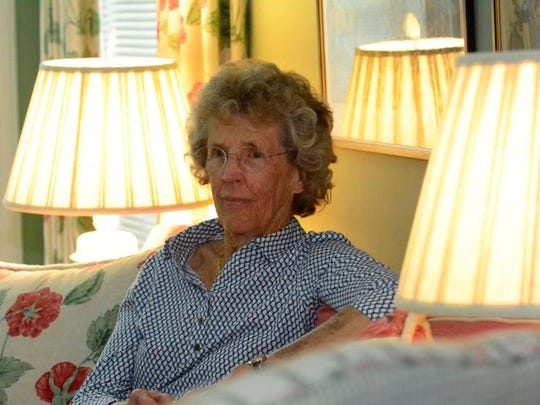 Hope Haskell Jones, 82, at her home in Little Silver. She is the daughter of Amory L. Haskell, one of Monmouth Park's founders, with the 50th renewal of the Betfai.com Haskell Invitational set for Sunday.