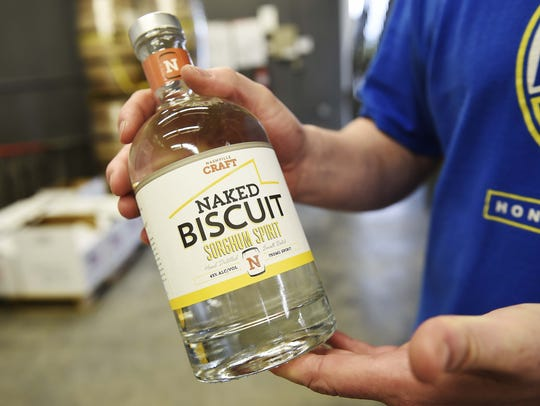 Try the unique Naked Biscuit Sorghum Spirit at Nashville
