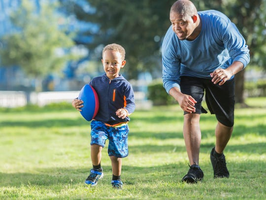 Try a game of touch football with family and friends