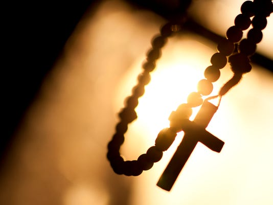Rosary, Cross, Sun, Window, Background, Space To Text