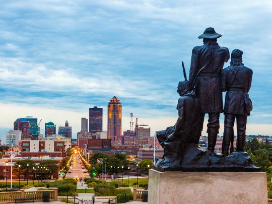 Downtown Des Moines offers plenty of picturesque views