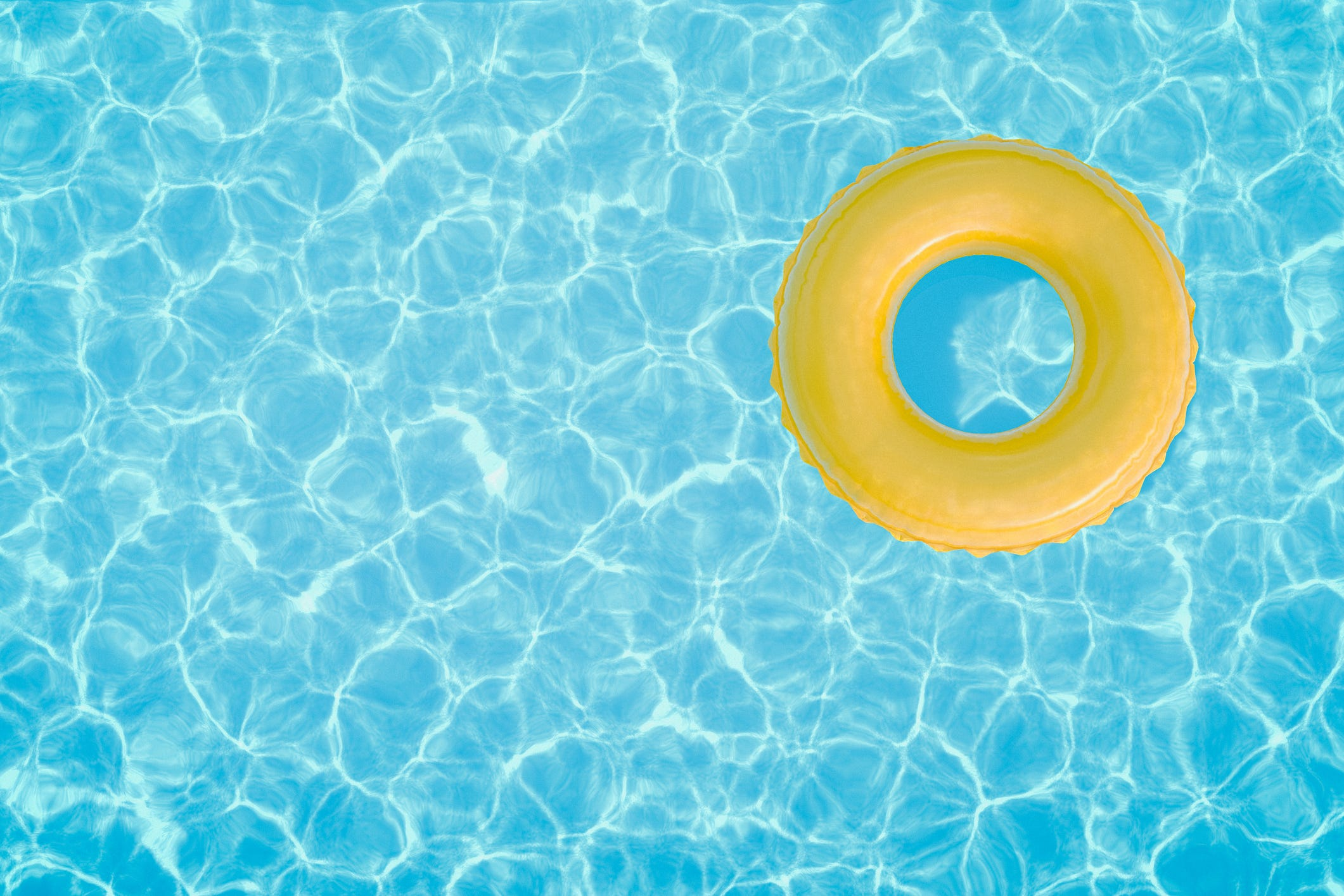 An Image Of A Pool Float In A Swimming Pool. (Photo: BenAkiba, Getty  Images/iStockphoto)