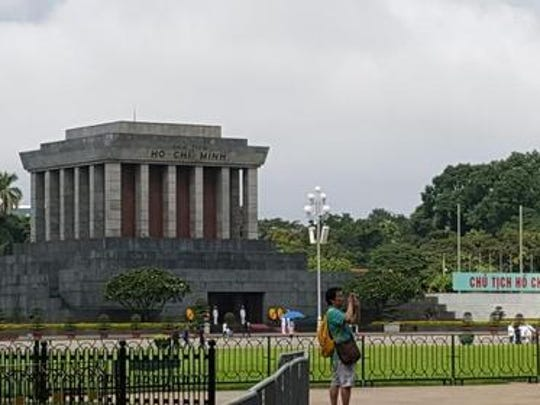 A view of Ho Chi Minh's musoleum in Hanoi, Vietnam.