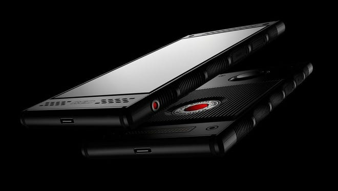The RED Hydrogen One holographic phone.