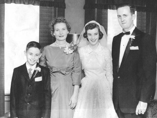 Nine-year-old Billy Bresnahan with his mother, Rose,