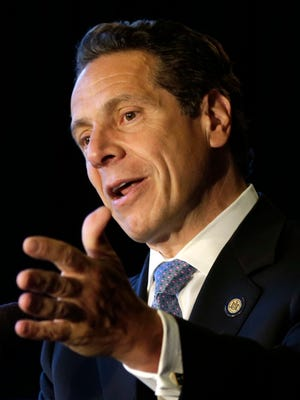 New York Governor Andrew Cuomo speaks during a ceremonial bill signing in New York on July 7.