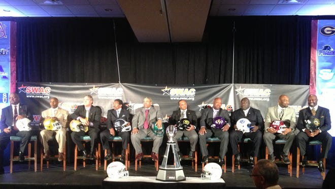 SWAC coaches at the conference's media days Friday in Birmingham.