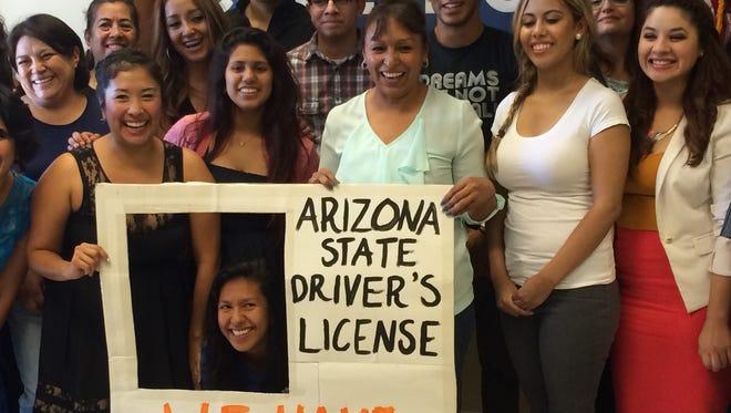 Dreamers celebrate victory in lawsuit seeking drivers licenses on July 7, 2014.