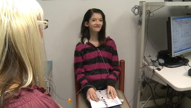 Maggie Gleason, 14, who was born deaf, heard sound for the first time in her life when hearing specialists at University Hospitals (UH) Case Medical Center turned on an innovative electronic device called an auditory brainstem implant (ABI). The implantable device provides a sense of sound to a person who is profoundly deaf.