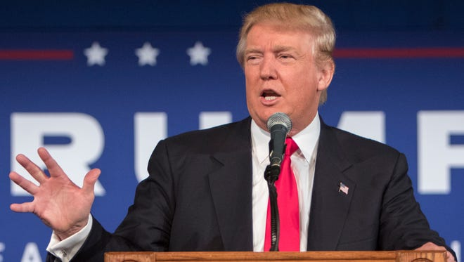 Republican presidential candidate Donald Trump's recent poll results earned him a place in the first prime time Republican presidential debate on Thursday.