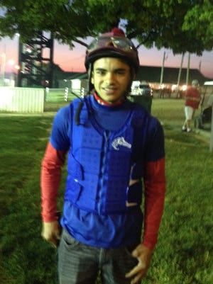 Sebastian Saez at Churchill Downs on Friday morning. He won Thursday night's last race.