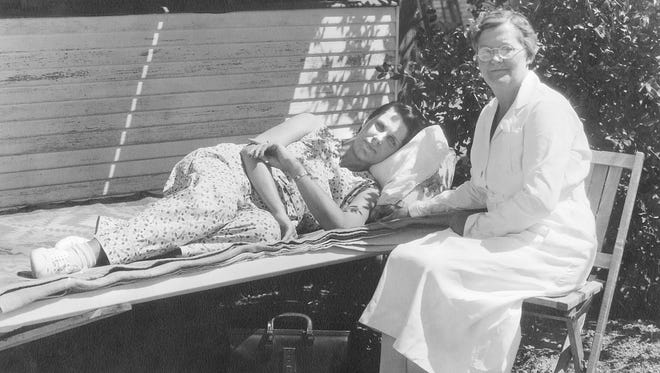 Nurses attended to tuberculosis patients at the Desert Mission.