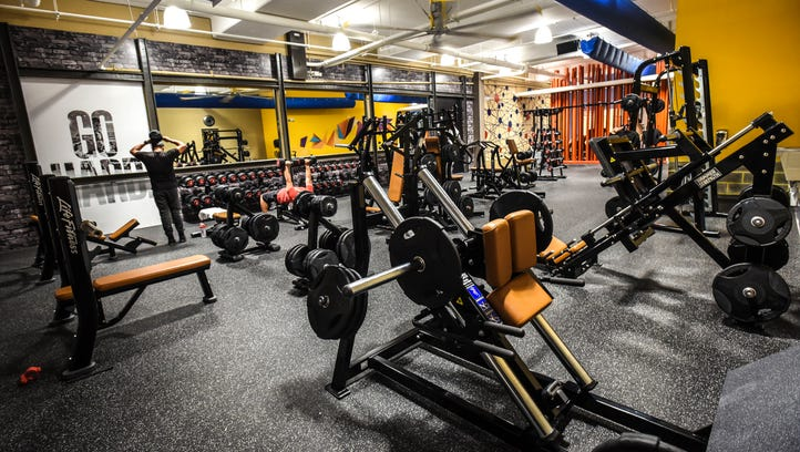 A collection of weight-training equipment available