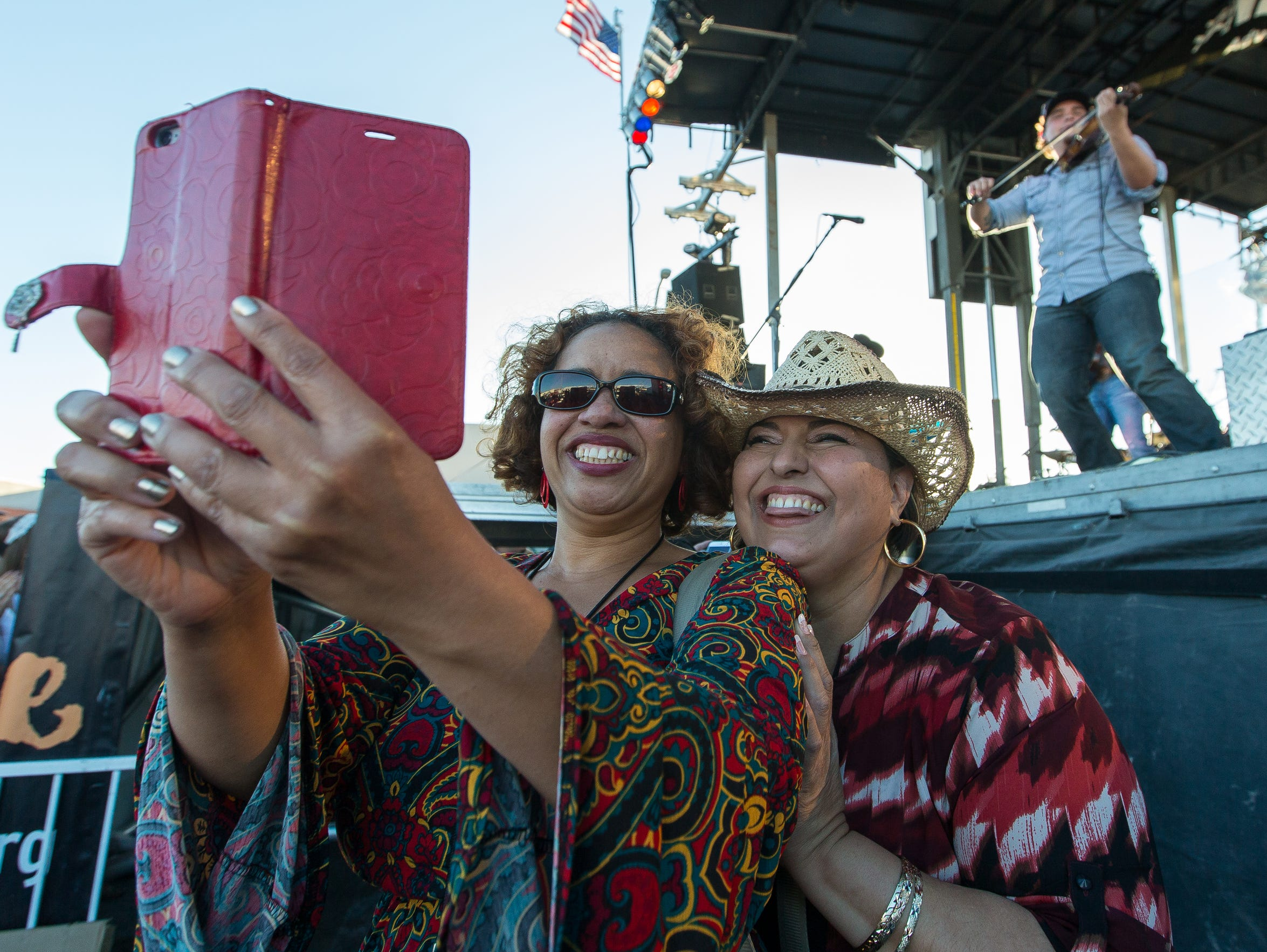 Fans at last year's country fest take a selfie during