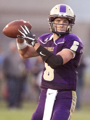 Fowlerville quarterback Geoffrey Knaggs ran for 146 yards and three touchdowns and passed for 118 yards in a 28-7 victory at Charlotte.