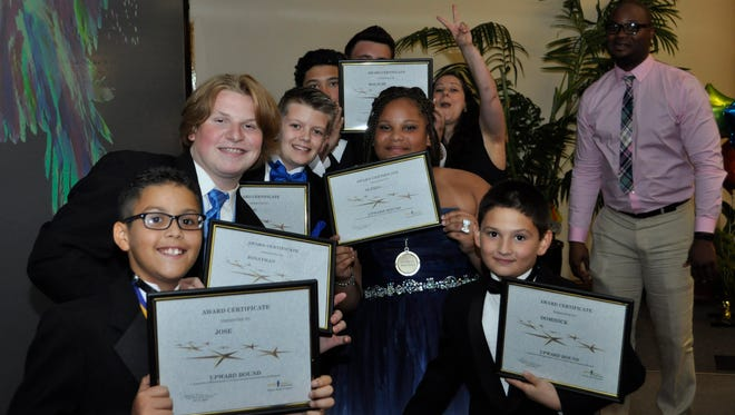 Boys Town youth receiving their awards