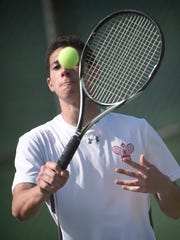 Annville-Cleona's Julian DyReyes-Kapp finished as the county singles runner-up on Monday.