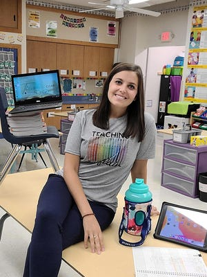 Ariel Schwarting, third-grade teacher at Grant Elementary School, favors the phased return of students proposed by the school district.