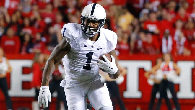 Penn State running back Bill Belton (1) scored the winning touchdown for the Nittany Lions on Saturday.